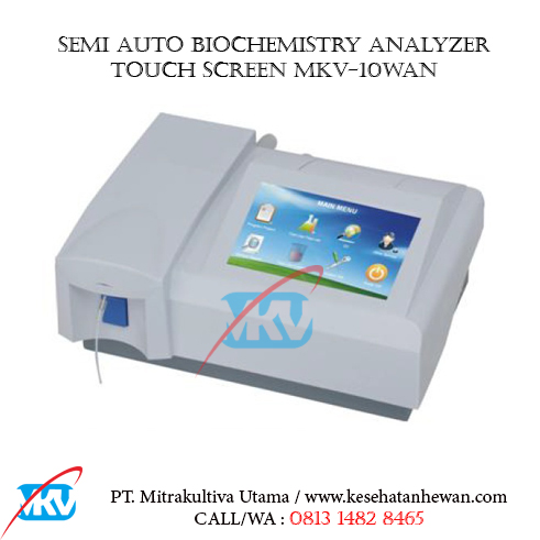 Semi Auto Biochemistry Analyzer Touch Screen MKV 10WAN B - Peralatan Klinik dan Laboratorium